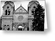 Sante Fe Cathedral Greeting Card