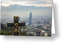 Santiago Chile Panoramic Greeting Card
