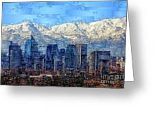 Santiago De Chile, Chile Greeting Card