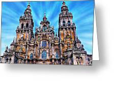 Santiago De Compostela Cathedral Greeting Card