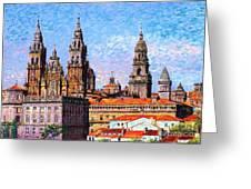 Santiago De Compostela, Cathedral, Spain Greeting Card