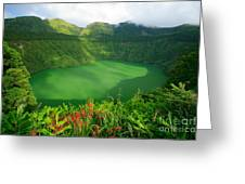 Santiago Lake Greeting Card