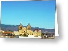Santo Domingo Church And Hills Greeting Card