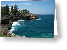 Santo Domingo Coastal View. Greeting Card