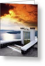 Santorini - The Gate Greeting Card