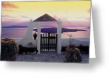 Santorini 010 Greeting Card