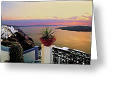 Santorini 012 Greeting Card