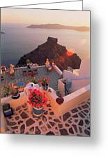 Santorini 016 Greeting Card