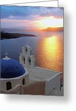 Santorini 03 Greeting Card