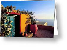 Santorini 09 Greeting Card