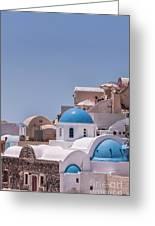 Santorini Church In Oia Greeting Card