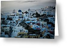 Santorini Misty Morn Greeting Card