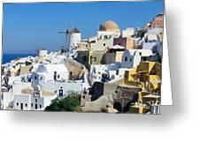 Santorini Oia Greeting Card