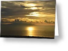 Santorini. Sunlight Greeting Card