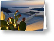 Santorini.fira Sunset Greeting Card