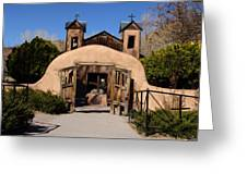 Santuario De Chimayo Adobe Chapel Greeting Card