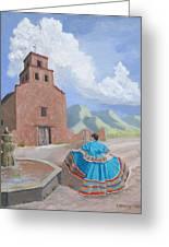Santurario De Guadalupe Greeting Card
