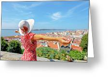 Sao Jorge Castle Overlook Greeting Card