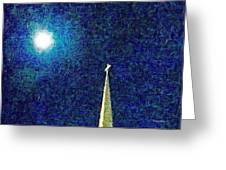 Sapphire Moon Glow Greeting Card