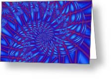 Sapphire Swirl Greeting Card