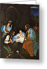 Saraceni Carlo The Birth Of Christ Greeting Card