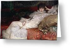 Sarah Bernhardt Greeting Card by Georges Clairin