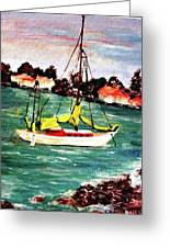 Sarasota Bay Sailboat Greeting Card