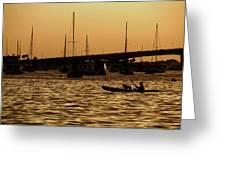 Sarasota Bay Sunset #1 Greeting Card