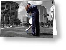Sarasota Kiss Greeting Card