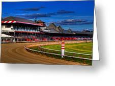 Saratoga Race Track Greeting Card by Don Nieman