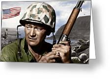 Sargent Stryker U S M C  Iwo Jima Greeting Card