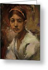 Sargent Study Number 1 Capri Girl Greeting Card