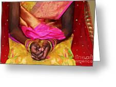 Sari Ceremony Greeting Card