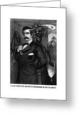 Satan Tempting John Wilkes Booth Greeting Card