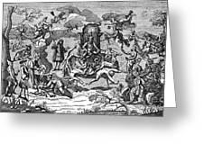 Satan With Cavorting Dancers, 18th Greeting Card