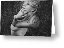 Satanic- Godess Greeting Card
