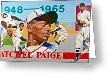 Satchel Paige Greeting Card