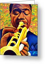 Satchmo, Louis Armstrong Painting Greeting Card
