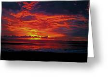 Satellite Beach Sunrise Greeting Card