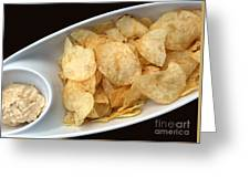 Satisfy The Craving With Chips And Dip Greeting Card