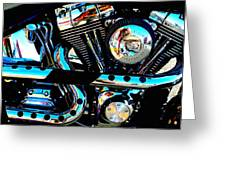 Saturated Chrome Greeting Card