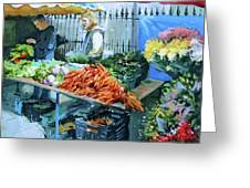 Saturday Market Greeting Card
