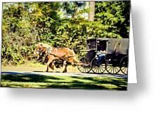 Saturday Morning Ride Greeting Card