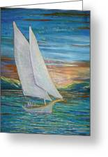 Saturday Sail Greeting Card
