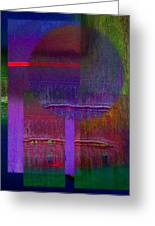 Saturn Abstract Greeting Card