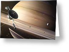 Saturn Flyby Greeting Card
