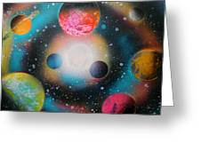 Saturn Galaxy Greeting Card