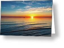 Sauble Beach Sunset 4 Greeting Card