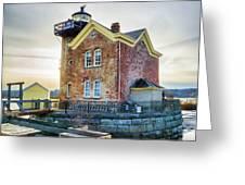 Saugerties Lighthouse Greeting Card by Nancy De Flon