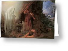 Saul And The Witch Of Endor Greeting Card